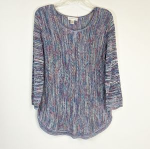 Christopher & Banks multicolor knitted tunic